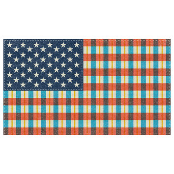 """Nick Nelson's """"Plaid Flag"""" wall decal"""