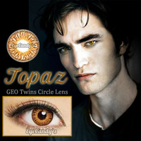 Edward Cullen Topaz circle lens GEO colored contacts cosmetic fashion lenses | EyeCandy's