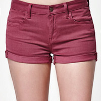 Bullhead Denim Co. Raspberry Mid Rise Super Stretch Denim Shorts at PacSun.com