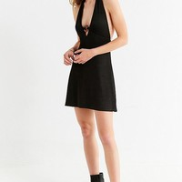 UO Jane O-Ring Halter Mini Dress | Urban Outfitters