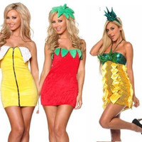 Halloween FANCY FRUIT MINI PARTY DRESS COSTUME BANANA STRAWBERRY PINEAPPLE