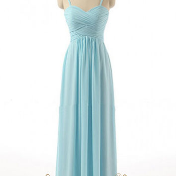 Knit Chiffon Long Bridesmaid Dress AM493