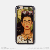 Art oil painting Frida Kahlo iPhone 6 6Plus case iPhone 5s case iPhone 5C case iPhone 4 4S case Samsung galaxy Note 2 Note 3 Note 4 S3 S4 S5 case 050