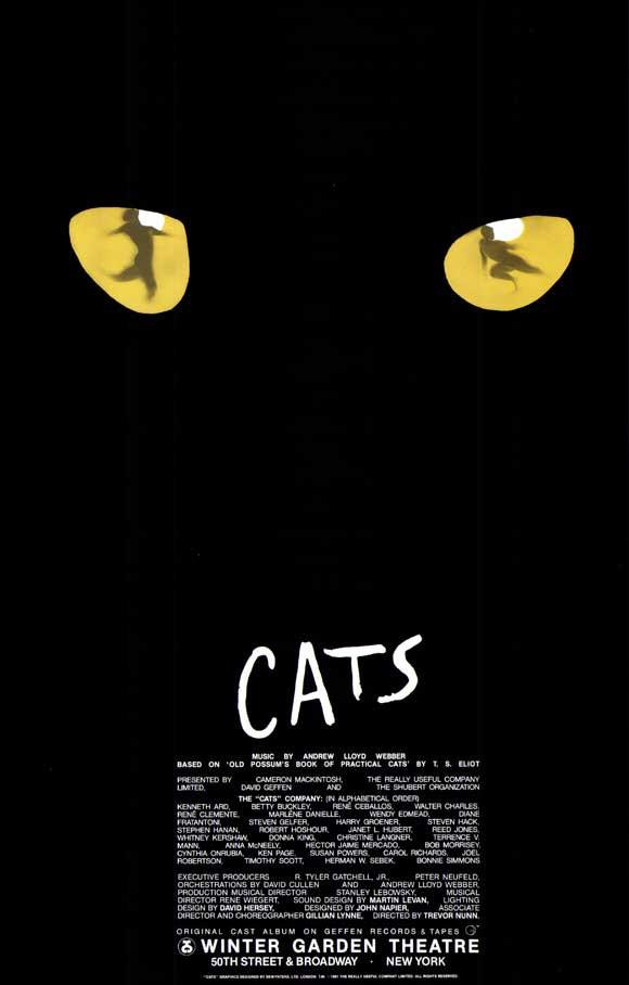 Image of Cats 11x17 Broadway Show Poster (2000)