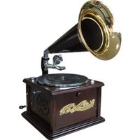 Gramophone Style Music Player - Cd, Cassette, Radio, Record Player, MP3s and more.