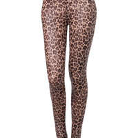 LE3NO Womens Leopard Pattern Print Leggings with Stretch (CLEARANCE)