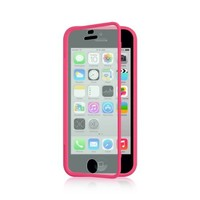 Dream Wireless Wrap-Up with Screen Protector Case for iPhone 5C - Retail Packaging - Hot Pink