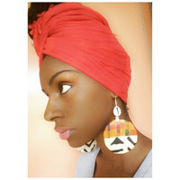 Kente Cowrie Earrings