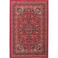 Ottohome Collection Persian Heriz Oriental Design Red Runner Rug (5' x 7') | Overstock.com Shopping - The Best Deals on 5x8 - 6x9 Rugs