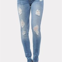 Sparrow Distressed Skinnies - Light Blue