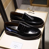 Prada Men's Fashion Low Top Leather Shoes