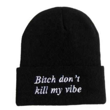 """Bitch Don't Kill My Vibe"" Fitted Hat"