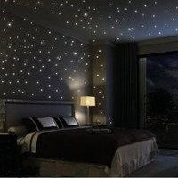 Glows The moon Beautiful Faery in the Dark Stars and Stick Wall Decals