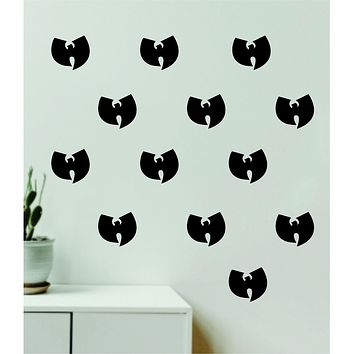 Wu Tang Pattern Set of 20 Wall Decal Home Decor Bedroom Room Quote Vinyl Sticker Teen Music Rap Hip Hop Girls