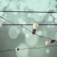 Its Electric . low tech whimsical wall art . vintage industrial mood . party, retro, wires, light string, bare bulbs, surreal