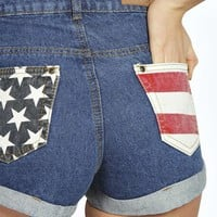 Brooke USA Flag Denim Hotpants