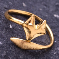 Wrap Around Fox Ring - Gold or Silver