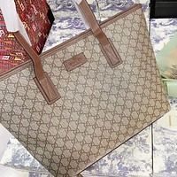 GUCCI New fashion more letter print canvas shoulder bag handbag