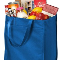 Wide Polypropylene Reusable Grocery Tote Bag - B160