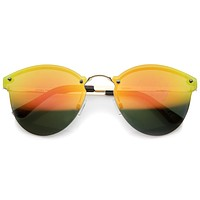 Rimless Horned Rim Iridescent Lens Sunglasses A216