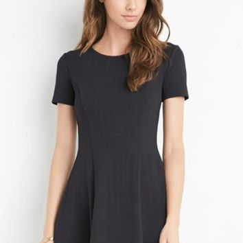Textured Fit & Flare Dress