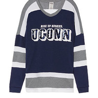 University Of Connecticut Bling V-neck Varsity Crew - PINK - Victoria's Secret
