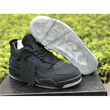 Kaws X Air Jordan 4 Black AJ4 930155-001 shoes 36-47