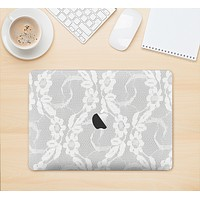 "The White Floral Lace Skin Kit for the 12"" Apple MacBook (A1534)"