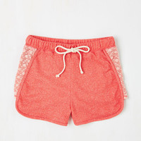 70s Short Length Laid-back in the Day Shorts in Pink
