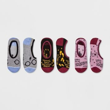 Women's Harry Potter 3pk Liner Socks - Colors May Vary One Size