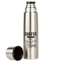 Coffee and Positive Vibes Large Thermos® Bottle> Coffee and Positive Vibes> Sheldon To Mr Darcy Art by Alice Flynn