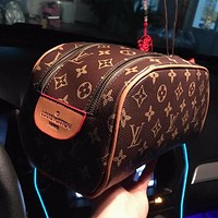 Louis Vuitton LV Cosmetic Bag Two-piece Set Fashionable Men's and Women's Clutch Large Capacity Cosmetic Bag
