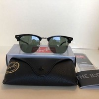 Kalete Ray-Ban RB3016 901 CLUBMASTER Silver BLACK Classic 51mm