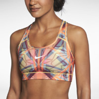 Nike Pro Hypercool Compression Kaleidoscope Women's Sports Bra - Atomic Mango