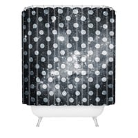Belle13 Polka Dot Universe Shower Curtain