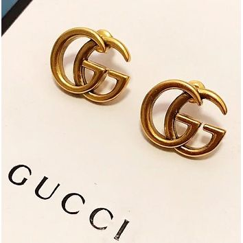 GUCCI New fashion letter earring accessories Golden