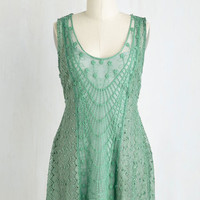 Mid-length Sleeveless Ethereal Encounter Top in Sage