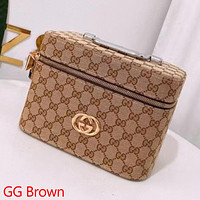 GG Clamshell Cosmetic Case Bag with Full Letters Box