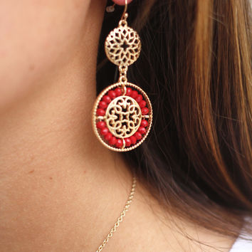 Into The Sky Earrings (Red)