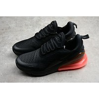 "Nike Air MAX 270 ""Black&Orange"" Running Shoes AH8050-010"