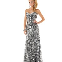 Exclusive Sweetheart Neck Column Beading Sequin Prom Dress Style 3315,Gray prom dress