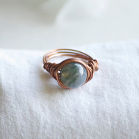 Earth Jasper Ring - Jasper Ring - Jasper Stone - Jasper Jewelry - Wire Wrapped Ring - Stone Ring - Boho Ring - Boho Jewelry - Hippie Jewelry