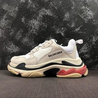 Balenciaga Triple S Trainers Sneakers SNEAKER TESS.S.GOMMA White Red - Best Online Sale