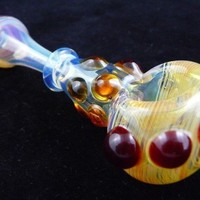 Crown of Jewels - Butterscotch, Amber, Red Elvis and Silver Glass Pipe