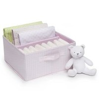 Receiving Blanket Gift Tote With Plush Toy