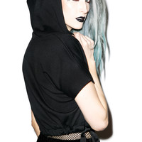 Rojas Knock Out Cropped Hoodie Black