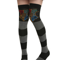Harry Potter Hogwarts Rugby Over The Knee Socks