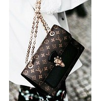 LV Louis Vuitton Fashion New Monogram Check Leather Leisure Shoulder Bag Women