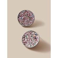 1pair Sequin Round Stud Earrings
