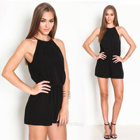 New Women Playsuit Romper Jumpsuit Sexy Summer Clothing Casual Sleeveless Jumpsuit F_B = 5616986113